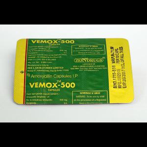 Vemox 500 Amoxicillin